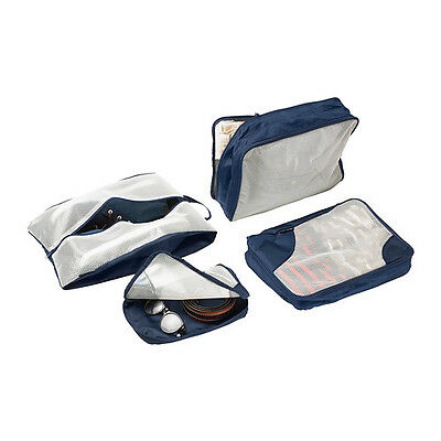 4 IKEA UPPTACKA Travel Zip Packing Bags Luggage Organiser Clothes Shoe Cases