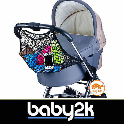 Diago Universal Pram Pushchair Stroller Shopping Net Bag Black BNIB