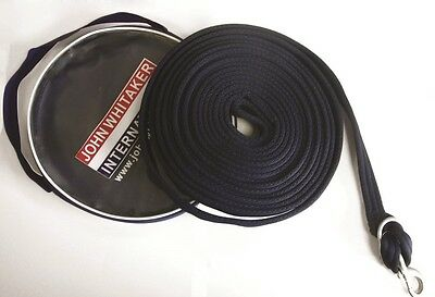 John Whitaker Padded Lunge Line / Rein, 8m, with Bag