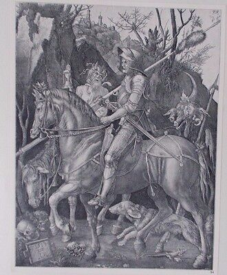 Albrecht Durer Vintage Copper Engraving Knight Death And The Devil