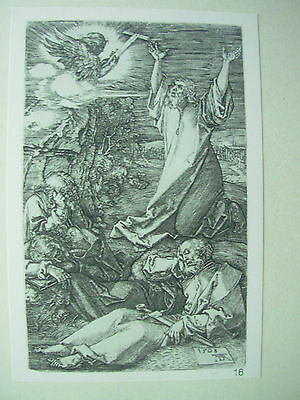 ALBRECHT DURER VINTAGE COPPER ENGRAVING AGONY IN THE GARDEN - PASSION No 2