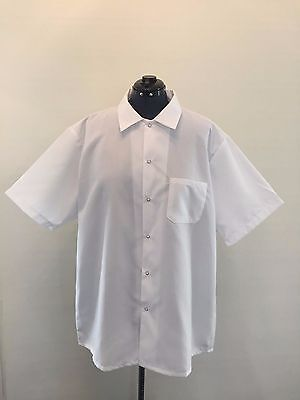 New BEST Textiles White Standard Kitchen Cook Shirt Snap Button Size 2XL