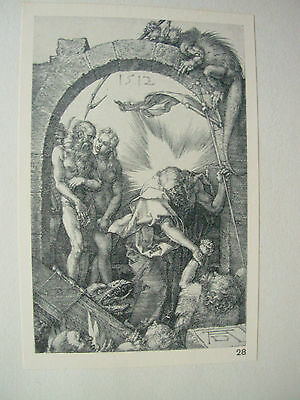 ALBRECHT DURER VINTAGE COPPER ENGRAVING HARROWING OF HELL - PASSION No 14