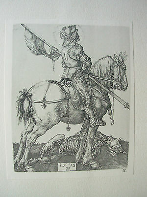 Albrecht Durer Vintage Copper Engraving St George On Horseback