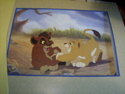 Lion King II 2 Disney Exclusive Gold Stamped Lithograph