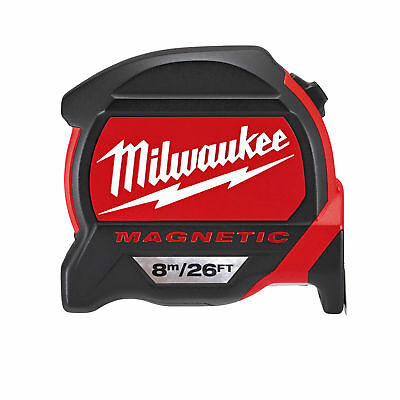 Milwaukee 48225225 8m / 26ft Metric & Imperial Magnetic Tape Measure Dual Magnet
