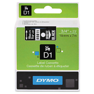 "DYMO D1 High-Performance Polyester Removable Label Tape 3/4"" x 23 ft White on"