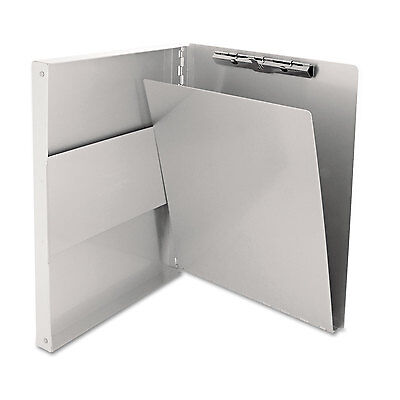"Saunders Snapak Aluminum Side-Open Forms Folder 1/2"" Clip 8 1/2 x 12 Sheets"