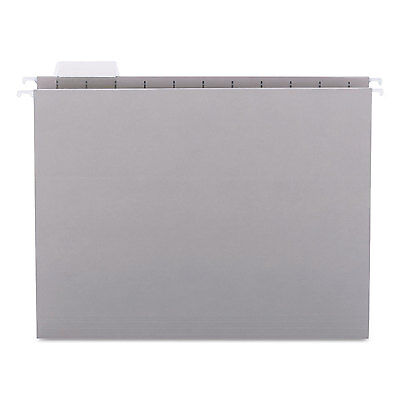 Smead Hanging File Folders 1/5 Tab 11 Point Stock Letter Gray 25/Box 64063