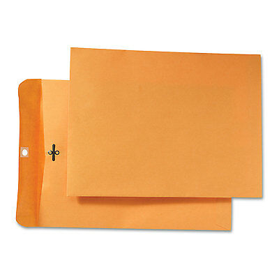 Quality Park Park Ridge Kraft Clasp Envelope 9 x 12 Brown Kraft 100/Box 43090