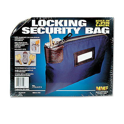 Mmf Industries Seven-Pin Security/Night Deposit Bag w/2 Keys Nylon 8 1/2 x 11