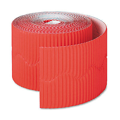 """Pacon Bordette Decorative Border 2 1/4"""" x 50' Roll Flame Red 37036"""