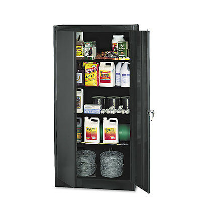 "Tennsco 72"" High Standard Cabinet 36w x 18d x 72h Black 1470BK"