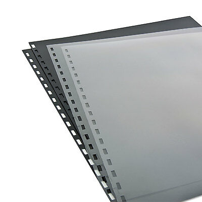 Swingline ZipBind Prepunched Cover Set 8-1/2 x 11 Clear/Black; 10 Sets/Pack