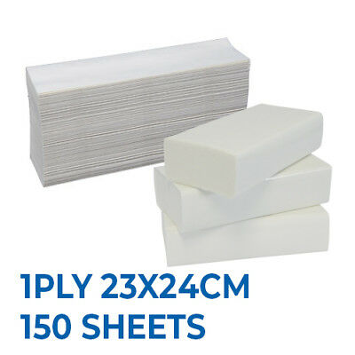 Interleaved Paper Hand Towel Slimline, 1ply 23X24cm 150 sheets, 16packs/ctn