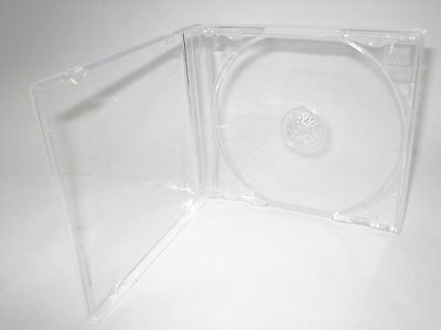 200 10.4Mm Standard Single Cd Jewel Cases With Clear Tray Kc04Pk