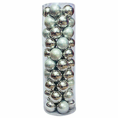Christmas Baubles Ball SILVER Party Decoration 45 Balls 60 70 80mm
