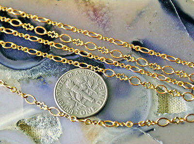 4.3x3.1mm Bronze Copper Silver Plated Fancy Brass Chain Link Chains c13