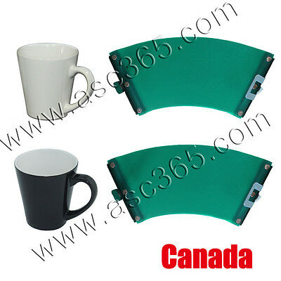 12oz Rubber Clamp Silicone Fixtures Sublimation Latte Mug  3D Heating Press