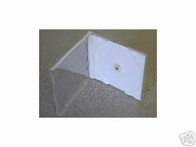 100 New Single Cd Jewel Cases With White Tray Sh001Pk