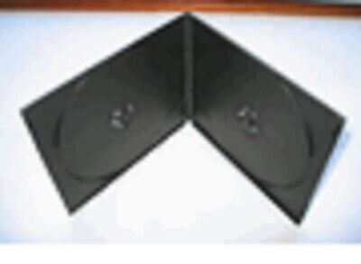 100 Black Double 7Mm Slim Cd Dvd Poly Cases, Kc03