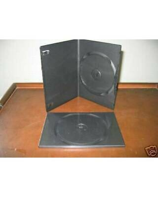 Sale! 100 SLIM 7mm SINGLE BLACK DVD CD CASE PSD14