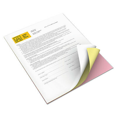 Xerox Bold Digital Carbonless Paper 8 1/2 x 11 White/Canary/Pink 5 000 Sheets/CT