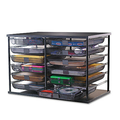 "Rubbermaid 12-Compartment Organizer with Mesh Drawers 23 4/5"" x 15 9/10"" x 15 2"