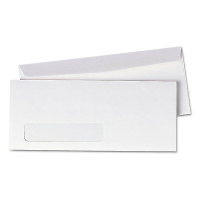 UNIVERSAL Window Business Envelope Side #10 4 1/8 x 9 1/2 White 500/Box 36321