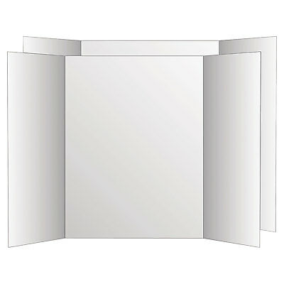 Eco Brites Two Cool Tri-Fold Poster Board 36 x 48 White/White 6/Carton 26790