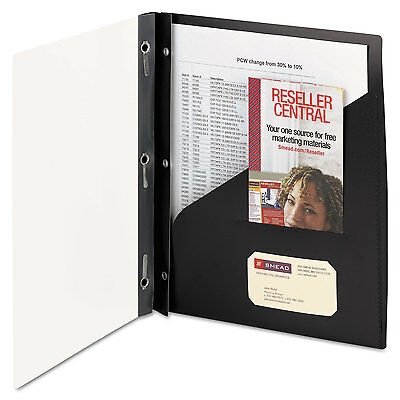 Smead Clear Front Poly Report Cover With Tang Fasteners 8-1/2 x 11 Black 5/Pack