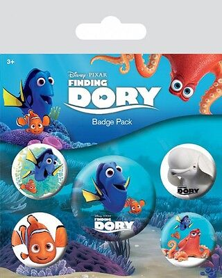 FINDING DORY - Findet Dorie - Button Set - Badge Pack - Neu OVP
