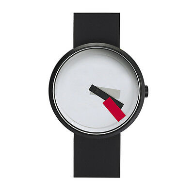 "Projects Watches ""Suprematism Red"" Steel IP Black White Silicon Unisex Watch"