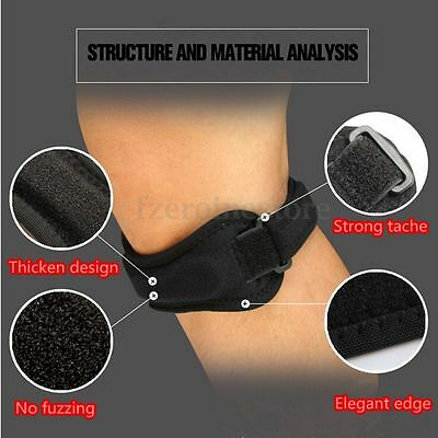 Adjustable Patella Jumper's Knee Support Tendonitis Strap Pain Relief Running