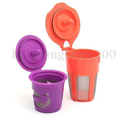 Refillable Reusable Coffee Filter K-Carafe+K-Cups Pod Cup Combo For Keurig 2.0