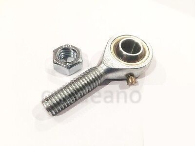 M8 8mm MALE RIGHT HAND THREAD ROSE JOINT TRACK ROD END COMPLETE WITH LOCKNUT