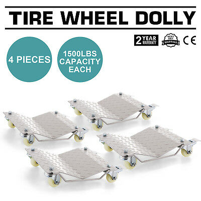 Wheel Dollies Dolly Vehicle Tire Car With 4 Removable Castor Newest Design