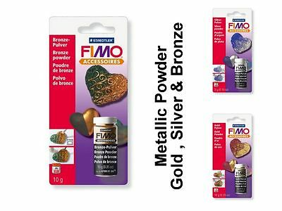 Staedtler Fimo Metallic Craft Powder Gold Silver Bronze Sparkle Choose Colour