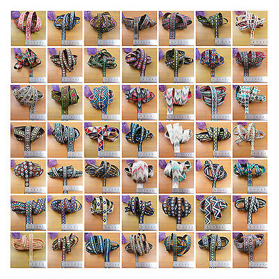 2 Metres Patterned Embroidered Woven Ribbon *56 Styles* Embroidery Sewing