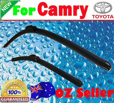 Pair Frameless Windscreen Wiper Blades For TOYOTA CAMRY 2002-2009