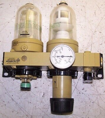 New Olympian B13-A3 Filter Regulator Lubricator Combo Sight Glass 0.4-10 Bar