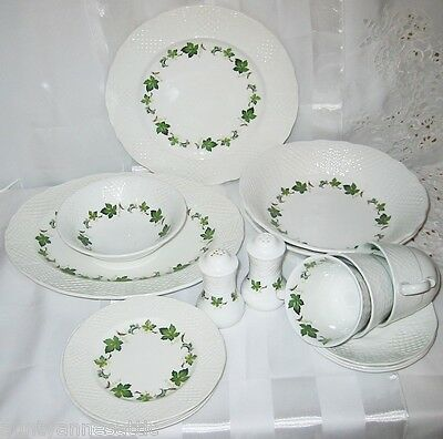 Burleigh Ironstone Concorde Pattern - Plates, Cups & Serving Pieces (20pcs)
