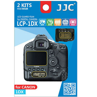 JJC LCP-1DX ultra hard polycarbonate LCD Film Screen Protector Canon EOS 1DX 2PK