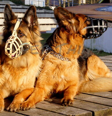 Light, Real Leather Muzzle for German Shepherd and similar