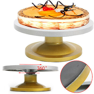 30cm Heavy Duty Kitchen Turntable Cake Stand Icing Rotating Cake Decorating UK