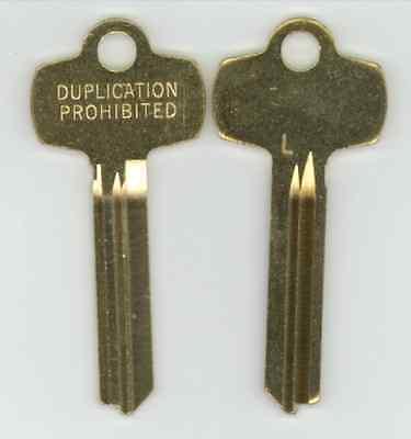 Best L Duplication Prohibited Look a Like Key Blank X2