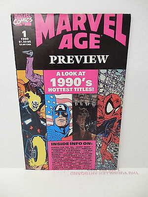 Marvel Age 1990 Preview Comic Book #1 Thanos Spider-Man X-Men Avengers Thor Alf