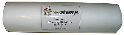 "No-Show Cut Away Stabilizer Backing, 11.8"" by 20 yards"