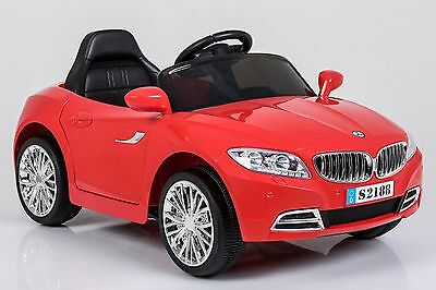 """Red BMW Style Kids Ride on"""" Remote Control Car With Lights and Music"""