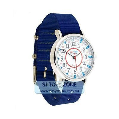 EasyRead Time Teacher Kids Watch 24 Hours Navy Strap Stainless Japanese Made